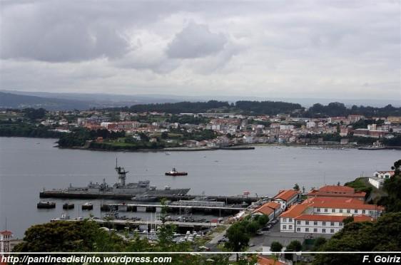 E. Naval de la Graña, F-71 Baleares, Mugardos - vista desde Brión (Ferrol) - F. Goiriz