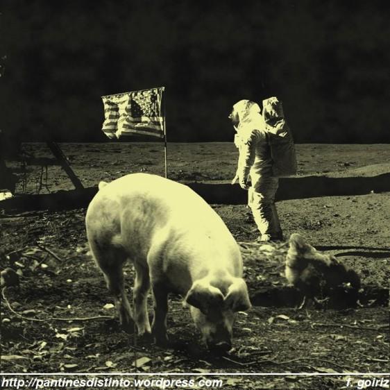 fotomontaje-estuvo el hombre en la luna-f. goiriz