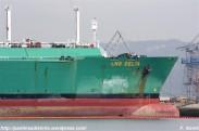 Gasero LNG Delta en los muelles de NAVANTIA Fene desde A Ribeiroa (Barallobre-Fene) - F. Goiriz 07-09-2009 (4)
