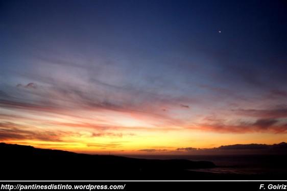 ultima puesta de sol verano 2009 - Pantín - F. Goiriz (2)