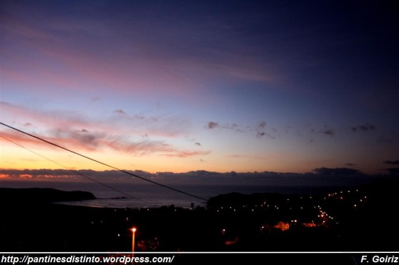 ultima puesta de sol verano 2009 - Pantín - F. Goiriz