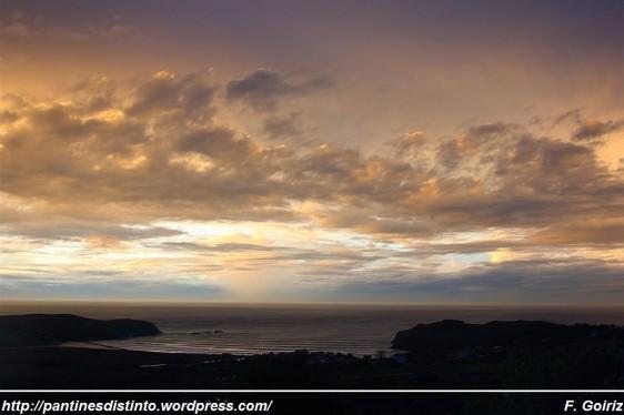 anochecer desde A Barreira (Pantín) - 05-10-09 - 20,02 h - foto F. Goiriz