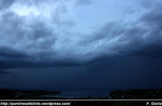 anochecer desde A Barreira (Pantín) - 06-10-09 - 20,06 h - foto F. Goiriz