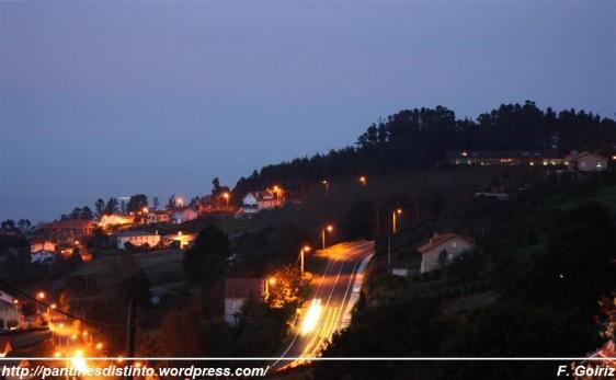 Ás Trabes pola noite - Pantín - Foto F. Goiriz