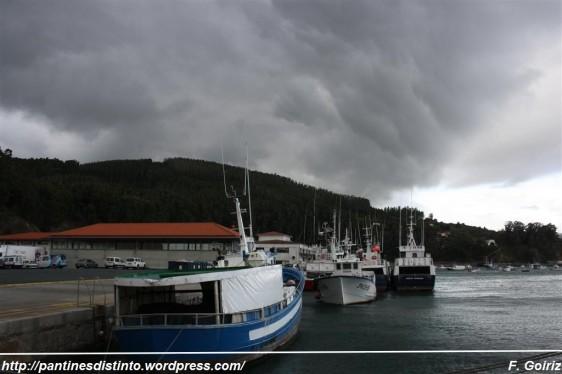 Aviso de tormenta sobre Cedeira - 20-10-2009 - foto F. Goiriz