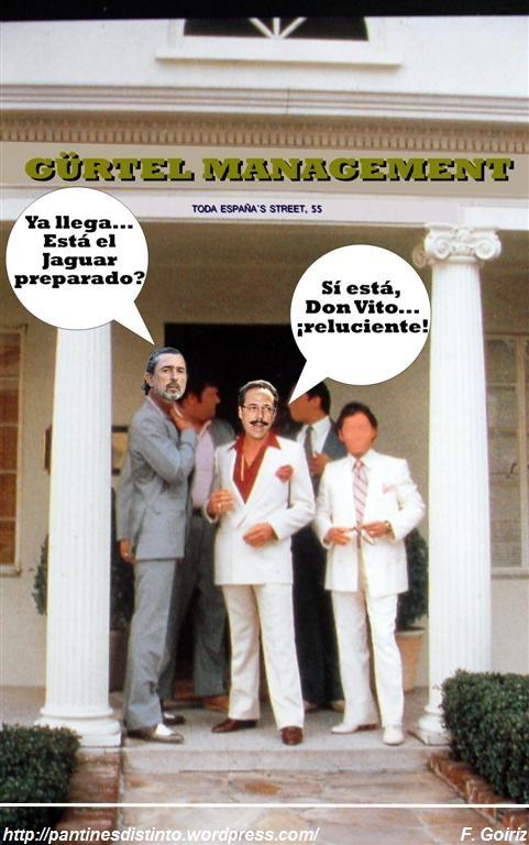 Don Vito y el bigotes - Gürtel Management - fotomontaje - F. Goiriz