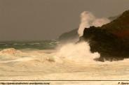 Temporal sobre la costa de Pantín - 05-11-09 - fotos F. Goiriz