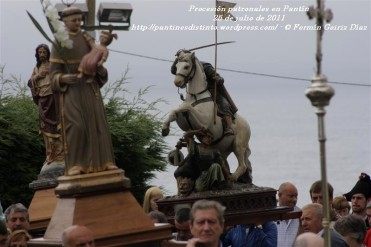 Procesión fiestas de Santiago - Pantín 25 de julio de 2011 - fotografía por Fermín Goiriz Díaz (29)