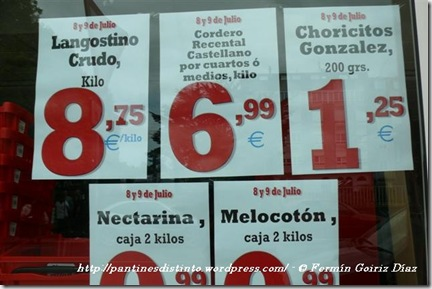 Publicidad Eroski Cedeira - Choricitos Gonzalez - fotografía por Fermín Goiriz Díaz