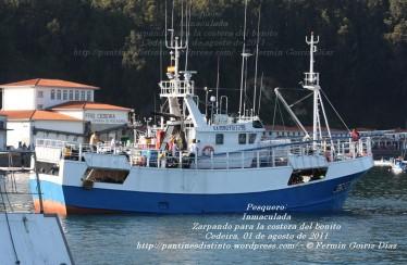 Pesquero de Cedeira INMACULADA ZARPANDO PARA LA COSTERA DEL BONITO - Cedeira, 31 de julio de 2011 - Galicia - fotografía por Fermín Goiriz Díaz (31)
