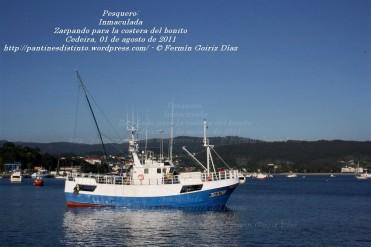 Pesquero de Cedeira INMACULADA ZARPANDO PARA LA COSTERA DEL BONITO - Cedeira, 31 de julio de 2011 - Galicia - fotografía por Fermín Goiriz Díaz (49)