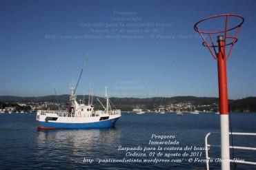 Pesquero de Cedeira INMACULADA ZARPANDO PARA LA COSTERA DEL BONITO - Cedeira, 31 de julio de 2011 - Galicia - fotografía por Fermín Goiriz Díaz (50)