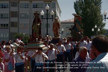 Procesión da Patrona - Pocesión de la virgen del Mar - Cedeira, 15 de Agosoto de 2011 - fotografía por Fermín Goiriz Díaz (23)