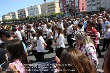 Procesión da Patrona - Pocesión de la virgen del Mar - Cedeira, 15 de Agosoto de 2011 - fotografía por Fermín Goiriz Díaz (35)