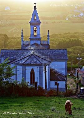 Iglesia parroquial de Santiago de Pantín (Valdoviño) - Galicia - Fotografía por Fermín goiriz Díaz