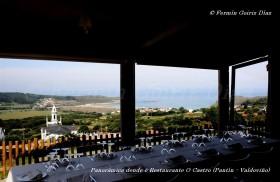 Panorámica de la pla de Pantín desde el Restaurante O Castro - Pantín (Valdoviño) - Galicia - fotografía por Fermín Goiriz Díaz