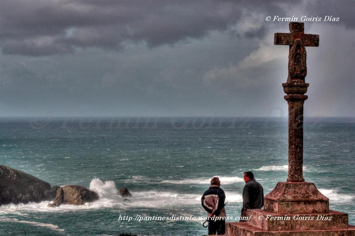 Alerta roja en la Costa - Observando el mar  desde San Antonio  do Corveiro CEDEIRA -14-12-11- Fotografía por Fermín Goiriz Díaz (28) (Large)