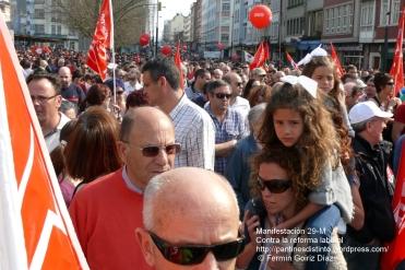 Fotografías manifestación 29-M en Ferrol - +40.000 manifestantes - Ferrolterra - contra la reforma laboral del PP - Fotografía por Fermín Goiriz Díaz (10)