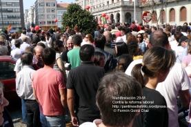 Fotografías manifestación 29-M en Ferrol - +40.000 manifestantes - Ferrolterra - contra la reforma laboral del PP - Fotografía por Fermín Goiriz Díaz (27)