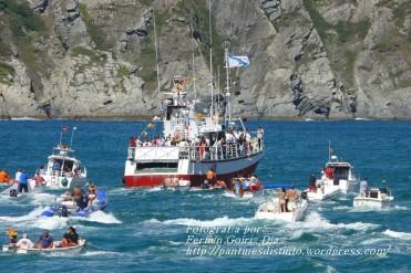 Procesión Marítima en honor de la Patrona de Cedeira - Cedeira, 16 de agosto de 2012 - fotografía por Fermín Goiriz Díaz (184)