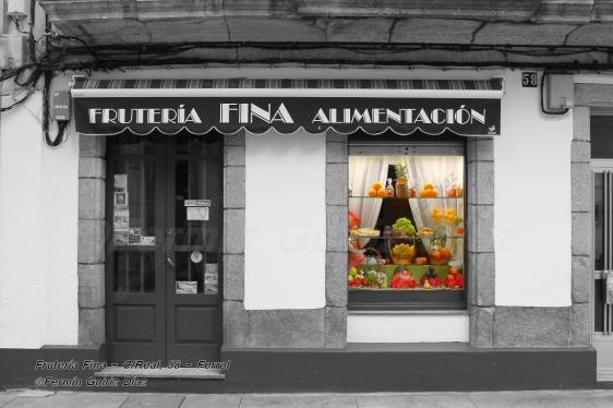 Frutería Fina - calle Real, 58 (Ferrol) - fotografía por Fermín Goiriz Díaz, 13 de febrero de 2013