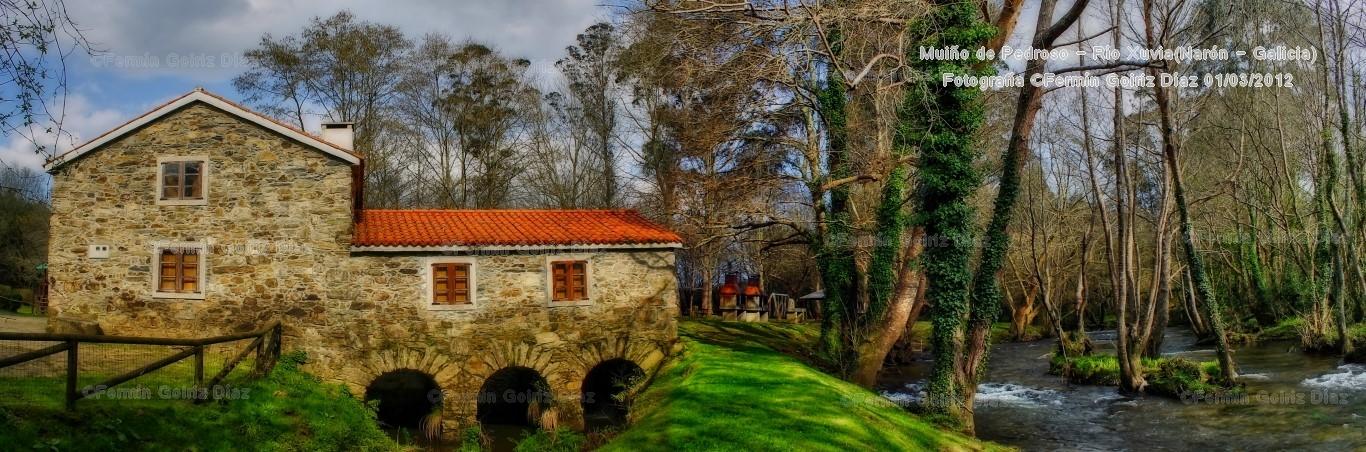 Muiño de Pedroso - rio Xuvia - Naron (Galicia) - fotografía por Fermin Goiriz Diaz