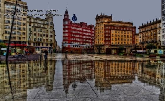 Plaza de España (Ferrol) - Fotografía por Fermín Goiriz Díaz, 07-03-2013