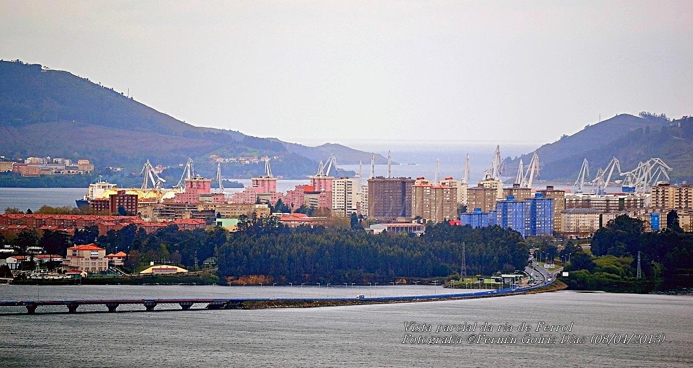 Vista parcial da ría de Ferrol - fotografía por Fermín Goiriz Díaz, 08-04-2013