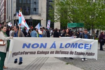 Contra a LOMCE - Huelga General en la Enseñanza Pública en Ferrol - Foto por Fermín Goiriz Díaz, 09-05-2013 (1)