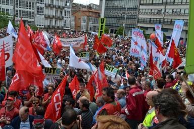 Folga Comarcal Ferrol, Huelga General Ferrol, 12 de xuño de 2013 - manifestación Ferrol, 12-06-2013 - fotografía por Fermín Goiriz Díaz(168)