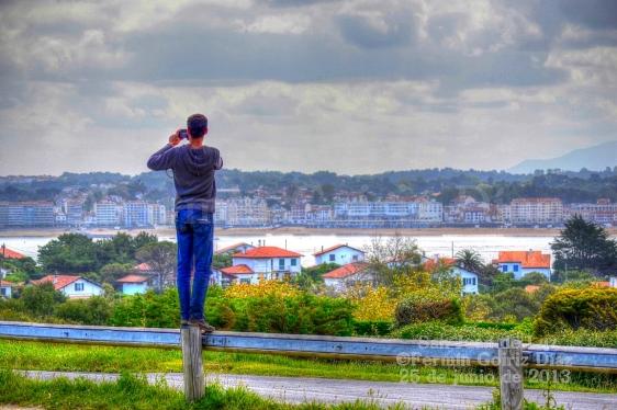 Fotógrafo en San Juan de Luz (Francia) - fotografía por Fermín Goiriz Díaz, 25 de junio de 2013