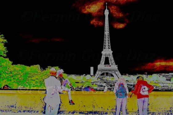 La Torre Eiffel desde Trocadero - Fotografia por Fermin Goiriz Díaz, Paris, junio 2013
